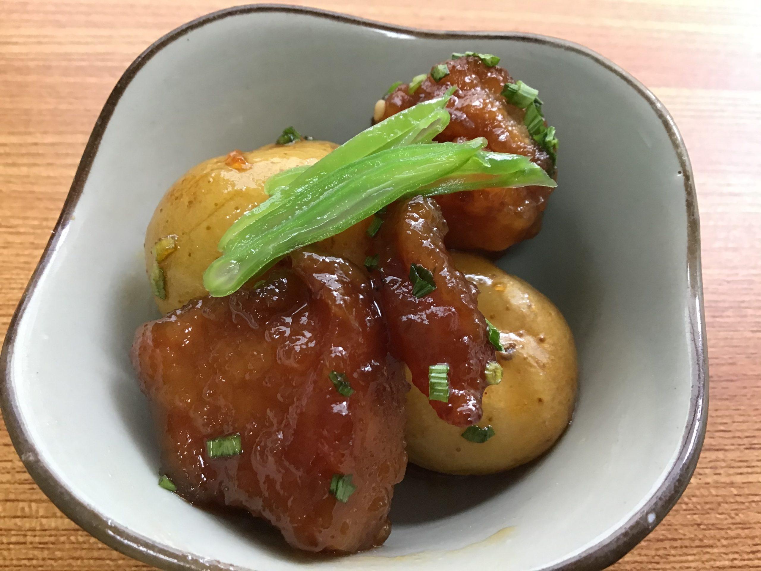 ほくほく芋とカリッと豚が堪らない!新じゃがと豚肉のからめ煮